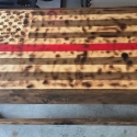Thin Red Line of Courage Coffee Table